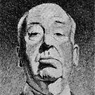 Hitchcock portrait - Fingerprint drawing by nicolasjolly