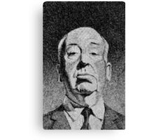 Hitchcock portrait - Fingerprint drawing Canvas Print