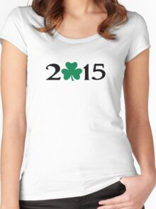 St. Patrick's day shamrock 2015 Women's Fitted Scoop T-Shirt
