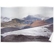 Glacier & moraine Poster