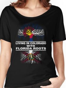 LIVING IN COLORADO WITH FLORIDA ROOTS Women's Relaxed Fit T-Shirt