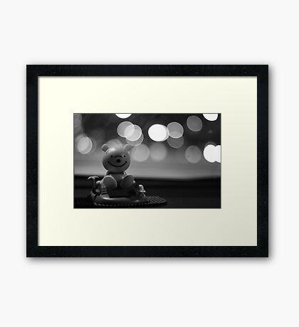 Dashboard Dongle. Framed Print