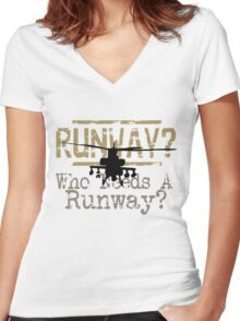 Runway 4 Women's Fitted V-Neck T-Shirt