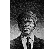 Jules Winnfield portrait - Fingerprint drawing Photographic Print