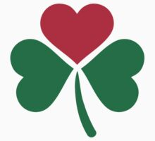 Shamrock red heart by Designzz