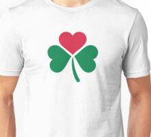 Shamrock red heart Unisex T-Shirt