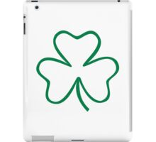 Green irish shamrock iPad Case/Skin