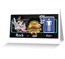 Rock & Roll Man Greeting Card