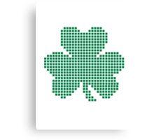 Pixel shamrock Canvas Print