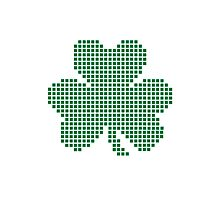 Pixel shamrock Photographic Print