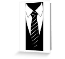 Pixel Suit and Tie Greeting Card