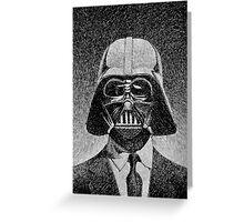 Darth Vader portrait - Fingerprint drawing Greeting Card