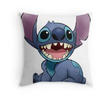 Stitch smile Throw Pillow