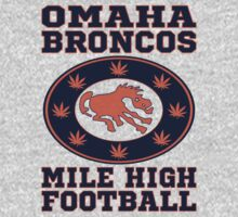 Vintage Mile High Football Omaha Broncos T Shirt by xdurango