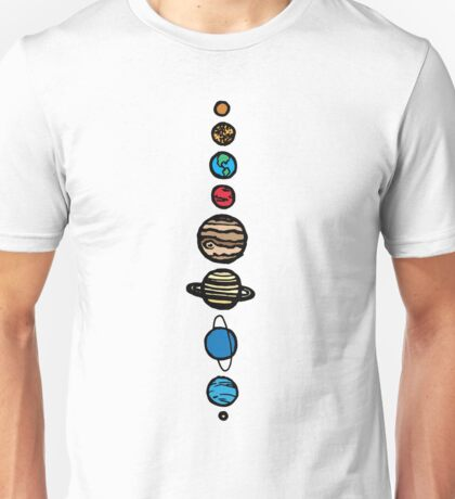 Planets Colour Unisex T-Shirt