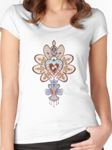 Flowering Heart Women's Fitted Scoop T-Shirt
