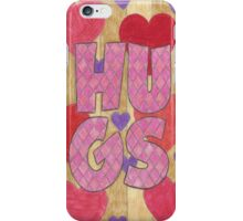 Four Letter Words, HUGS iPhone Case/Skin