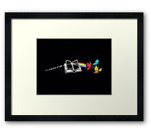 Dark Side of the Reading Rainbow Framed Print