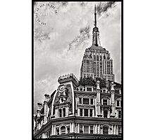 Empire State Over Gilsey House Photographic Print