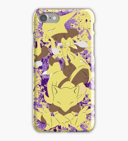 Abra, Kadabra, Alakazam Splatter iPhone Case/Skin