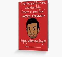 Aziz Ansari Greeting Card