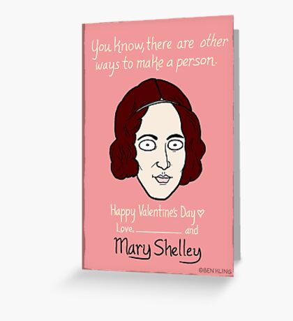 Mary Shelley Greeting Card