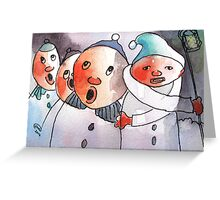 Freezing Nuts Greeting Card