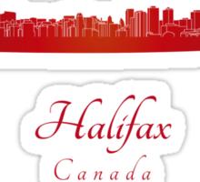 Halifax skyline in red Sticker
