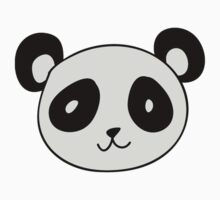 Cute Panda Face Kids Tee
