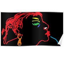 Female Head/Redhead -(070214)- Digital artwork/MS Paint Poster