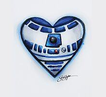 R2D2 Star Wars Heart by samskyler