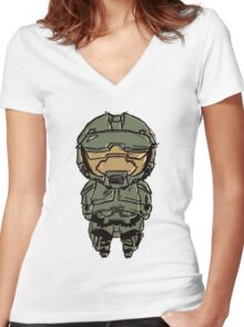 Master Chief  Women's Fitted V-Neck T-Shirt