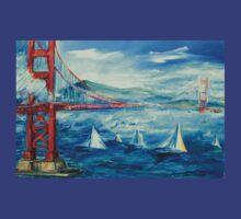 San Francisco golden gate bridge sailing day T-Shirt
