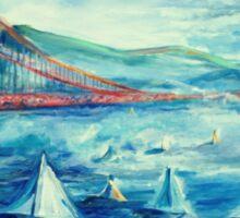 San Francisco golden gate bridge sailing day Sticker