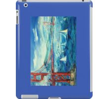 San Francisco golden gate bridge sailing day iPad Case/Skin