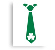 Shamrock tie St. Patrick's day Canvas Print