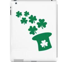 Irish top hat shamrocks iPad Case/Skin