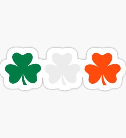 Ireland flag shamrocks Sticker