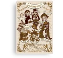 Lil steampunk Avengers Canvas Print