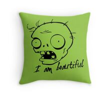 Plants vs Zombies - I am Beautiful Throw Pillow