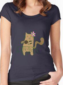Dancing Cat Women's Fitted Scoop T-Shirt