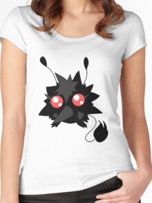 Fluffy Red-eyed Monster Women's Fitted Scoop T-Shirt