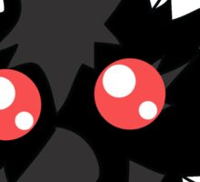 Fluffy Red-eyed Monster Sticker