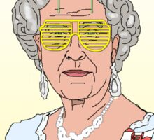 Cool Down - Queen Elizabeth II Sticker