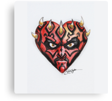 Darth Maul Star Wars Hearts Canvas Print