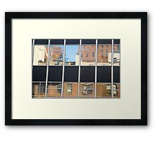 Reflection of City Life Framed Print
