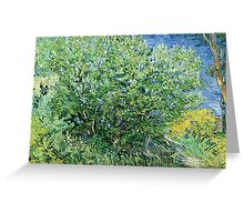 Vincent Van Gogh - Lilacs Greeting Card