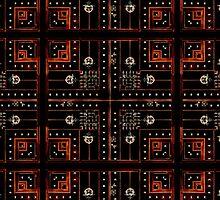 Electronic Background by DFLC Prints