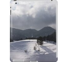 Snowstorm in the Sun - Dancing Snowflakes, Moody Clouds, Long Shadows iPad Case/Skin