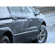 snowy car Photographic Print